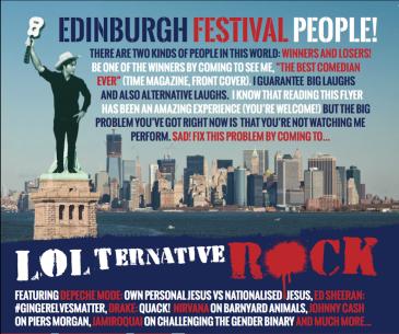 LOLternative Rock Flyer Back website